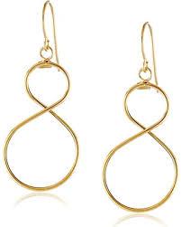 infinity earrings amazing deal on 14k yellow gold italian figure eight infinity earrings
