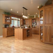 mission style oak kitchen cabinets craftsman style kitchen hickory wood cabinets craftsman