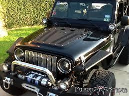 aev jeep hood jeep wrangler tj 03 06 hood louver aluminum black psc14 53 010 pc