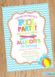 pool birthday invitation boy 10 00 via etsy pool