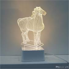 2017 2015 sale 3d horse table lamps for bedroom abajur para