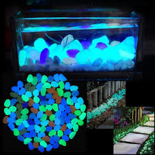 glow in the pebbles 100pcs pack glow pebbles home fish tank outdoor decor stones