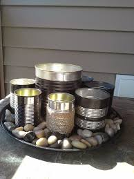 upcycled diy herb garden planters made from recycled tin cans