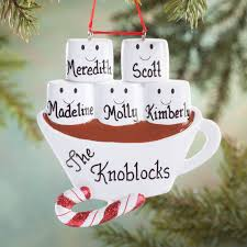 personalized chocolate family ornament miles kimball