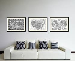 china home decor china japan korea vintage b u0026w map home decor wall art bedroom