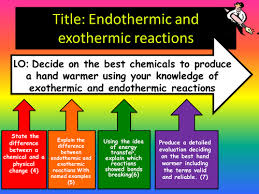 introduction to exothermic endothermic reactions by eiregirl