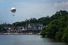 Boat House Row - boathouse row with zoo balloon philadelphia photograph by terry deluco