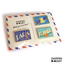 Pinset Set dapper day postcard pin set dapper day