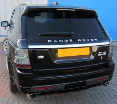chrome range rover 3pc chrome 2012 style tailgate upgrade kit rangerover sport 05 9 b