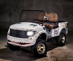 Ford Raptor Headlights - p51 ford raptor golf car 150 000 golf cart for charity
