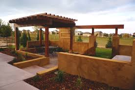 Concrete Pergola Designs by Decks U0026 Pergolas Alpine Landscaping