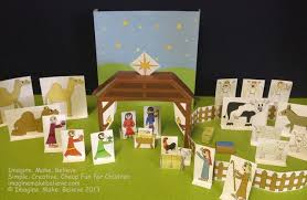 free play with paper nativity printables imagine make