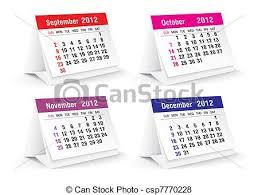 Small Desk Calendars 2012 Desk Calendar Vector Illustration Vector Search Clip