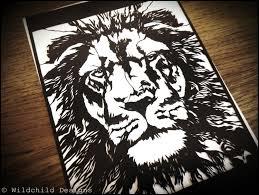 lion king template proud king aslan lion head paper cutting template animal leo