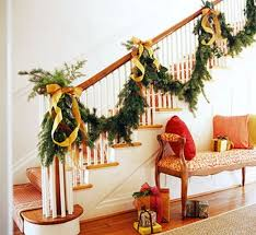 Banister Decorations For Christmas Christmas Stairs Decoration Ideas Best Home Design Ideas