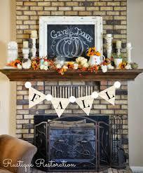 fall mantle scape and autumn home decor touches at rustiquerestoration blo com