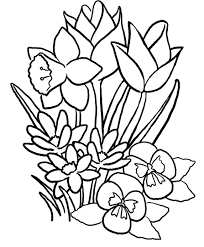 many spring flowers coloring page for kids seasons pages best of