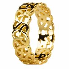 celtic gold rings images Ladies 14k gold silver celtic knot band ring jpg