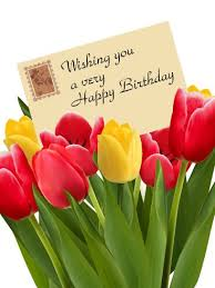 birthday tulip card cards birthdays happy