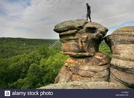 Rocks For The Garden Hiker Looking Into The Distance Sandstone Rocks In The Garden Of