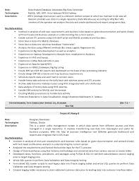 Data Warehouse Resume Sample by Download Big Data Resume Haadyaooverbayresort Com