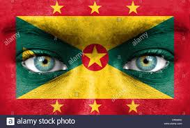Flag Face Human Face Painted With Flag Of Grenada Stock Photo Royalty Free