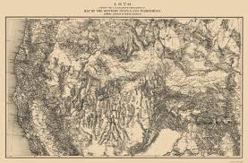Colorado Mountains Map by Old Mining Map Western Mining District Colorado 1870