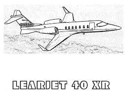 learjet 40 xr airplane coloring page download u0026 print online