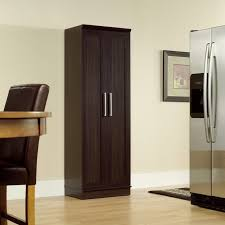 modern black walnut wood kitchen cabinet with chromed metal
