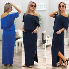 sleeve maxi dress 2017 new summer women boho maxi dress sleeve side slit