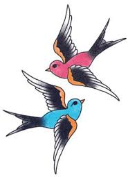 blue and red swallows temporary tattoo u2013 tattooednow ltd