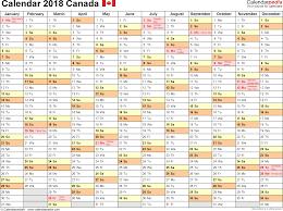 2018 calendar canada calendar template word