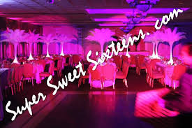 Centerpieces Sweet 16 by Feather Centerpieces Long Island Sweet 16 Party Centerpiece Rentals