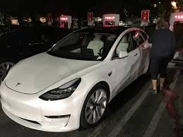 tesla model 3 with white interior option spotted ahead of fall