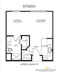 Studio Floor Plans Floor Plans U0026 Rental Rates Mountain Creek Retirement Living In