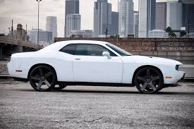 Dodge Challenger All Black - dub baller wheels black with machined face and dark tint rims
