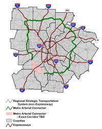 Metro Atlanta County Map by Tia 2010