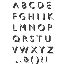 alphabet solid uppercase letters stencil reusable template for art