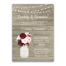 wedding reception invitation rustic wedding reception only invitation jar