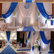 wedding backdrop blue dhl wedding backdrop curtains with royal blue swags wedding stage