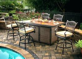 bar height patio table plans bar height patio set with swivel chairs medium size of alluring