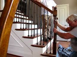 Stairway Banister Interior Stair Repair September 15 2009 Youtube