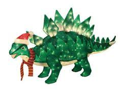 Tinsel Dinosaur Christmas Decorations by Home Accents Holiday 42 In Animated Tinsel Dinosaur With Present
