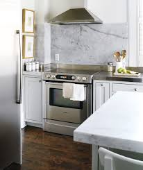 Carrara Marble Backsplash Transitional Kitchen Style At Home - Carrara backsplash
