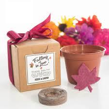 Flower Favors by Mini Seed Paper Leaf Flower Garden Gift Set Falling In