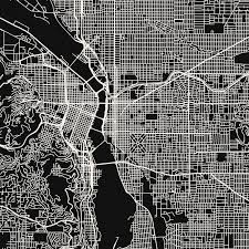 Maps Portland Oregon by Portland Map Art Print Mr City Printing Touch Of Modern