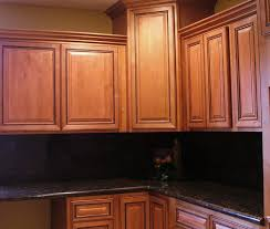 Black Kitchen Wall Cabinets Furniture Lovely Kitchen Design Idea Using Black Granite Counter