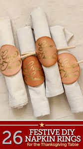 26 festive diy napkin rings for the thanksgiving table thegoodstuff