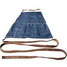 tablier de cuisine fait tablier de taille en jean reconverti cuir fait par hide