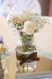 jar decorations for weddings rustic country jar centerpiece by homemadewithlovewed